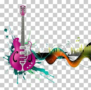 Electric Guitar Music Illustration PNG