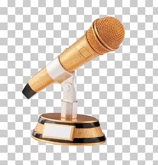 Microphone Award Trophy Singing Music PNG