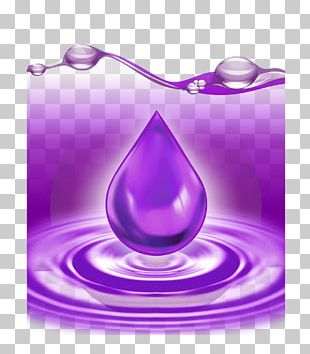 Purple Water Drop Violet Color PNG
