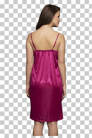 Satin Nightgown Robe Nightwear Dress PNG