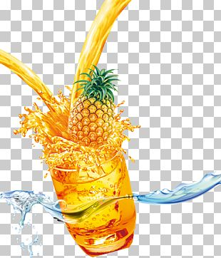 Pineapple Juice Cocktail Drink PNG