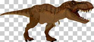 Tyrannosaurus Velociraptor Jurassic Park Repaint Toy PNG