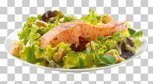 Caesar Salad Smoked Salmon Vegetarian Cuisine Recipe Lettuce PNG