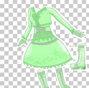 Costume Design Dress Green Character PNG