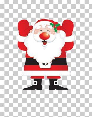 Santa Claus Reindeer PNG