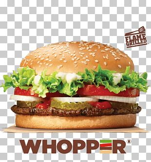 Hamburger Whopper Cheeseburger Big King French Fries PNG
