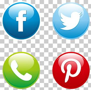 Social Media Button Euclidean Icon PNG