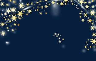 Golden Star Decoration Material PNG