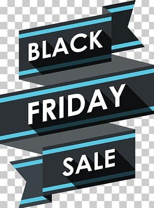 Black Friday Discounts And Allowances Ribbon Advertising PNG