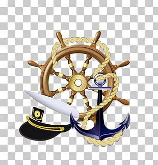 Anchor Sailor Ships Wheel Logo PNG