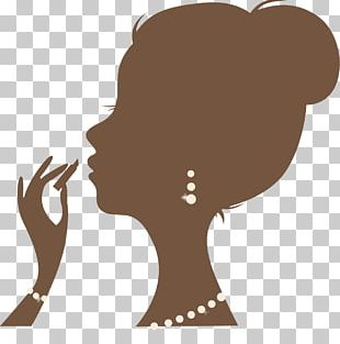 Silhouette Female Woman Cosmetics PNG