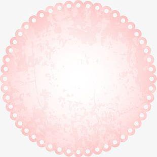 Pink Lace Circle PNG