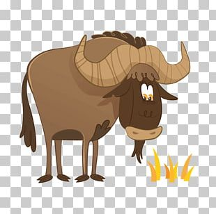 Sticker Wildebeest Drawing PNG