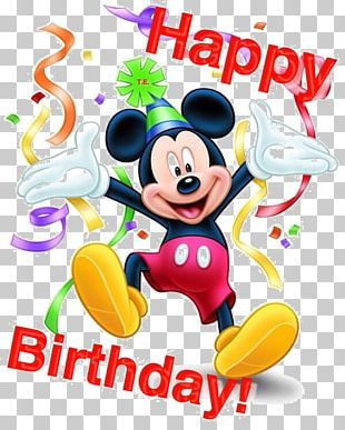 Mickey Mouse Birthday Wish Greeting & Note Cards Minnie Mouse PNG