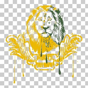 Lion Watercolor Painting Drawing Illustration PNG