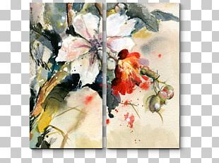 Watercolor Painting Orchids Stock Photography Printing PNG