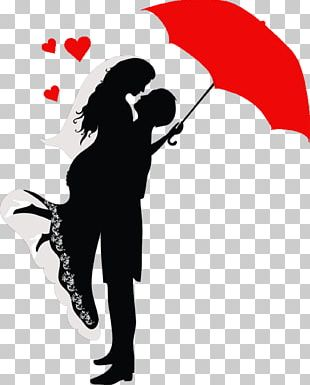 Romance Drawing Couple Silhouette PNG