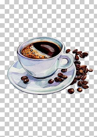 Coffee Tea Espresso Cafe Watercolor Painting PNG