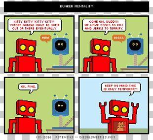 Comics Robot Diesel Sweeties Cartoon Comic Strip PNG