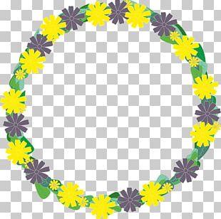 Wreath Yellow Flower Garland PNG