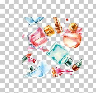 Nail Polish Cosmetics Watercolor Painting PNG