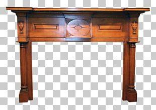 Table Fireplace Mantel Wood Shelf Furniture PNG