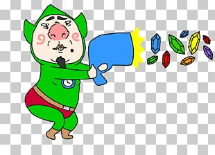 Freshly-Picked Tingle's Rosy Rupeeland Super Smash Bros. Character PNG