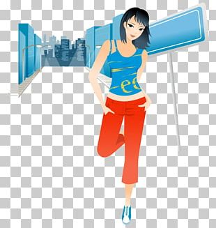 Physical Exercise Cartoon Woman Illustration PNG