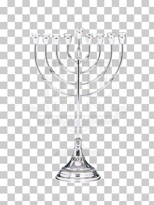 Menorah Sterling Silver Hanukkah Rosh Hashanah PNG