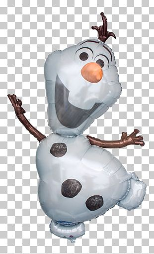 Olaf Anna Balloon Snowman Birthday PNG