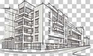 Building Architectural Drawing Architecture Sketch PNG
