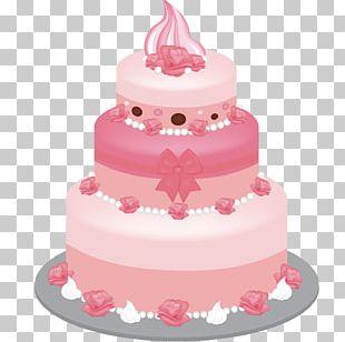 Birthday Cake Icing Layer Cake Wedding Cake PNG
