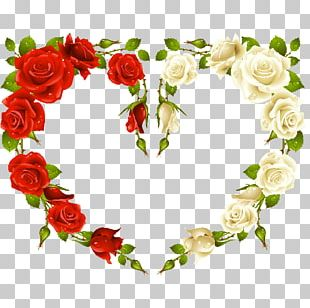 Rose Heart Frames Stock Photography PNG