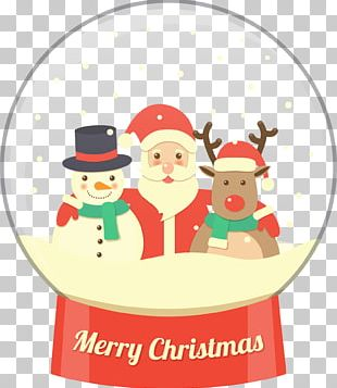 Rudolph Reindeer Santa Claus Christmas Snowman PNG