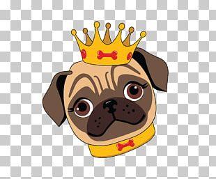 Pug Puppy Logo Fawn Cartoon PNG