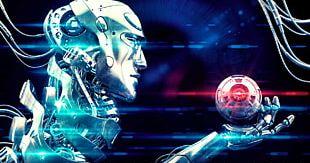 Robotics Artificial Intelligence Humanoid Robot Transhumanism PNG