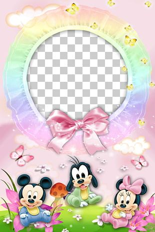 Mickey Mouse Minnie Mouse Donald Duck Pluto Frame PNG