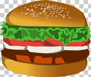 Hamburger French Fries Fast Food Cheeseburger Cinnamon Roll PNG