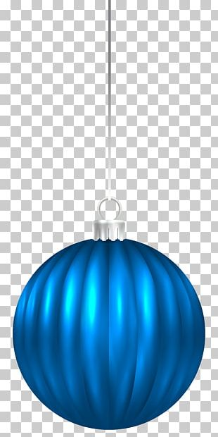 Blue Lighting Sphere Christmas Ornament Pattern PNG