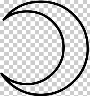 Crescent Drawing Moon Symbol Lunar Phase PNG