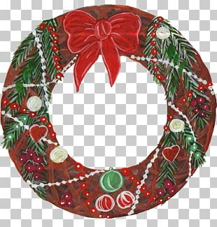 Wreath Christmas Ornament Christmas Decoration Candy Cane PNG