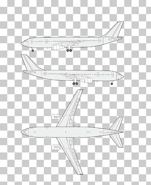 Airplane Wing Black And White Pattern PNG