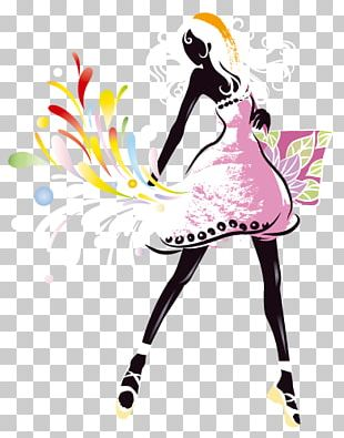 Fashion Girl Graphic Arts Illustration PNG
