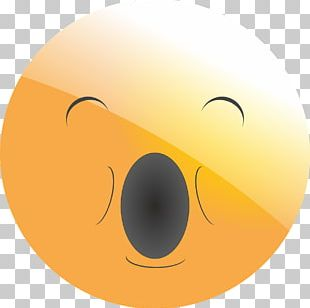 Emoticon Smiley Yawn Feeling Tired PNG