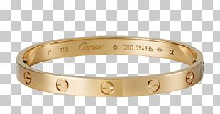 Love Bracelet Cartier Gold Jewellery PNG