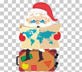 Rudolph Santa Claus Christmas Cartoon PNG