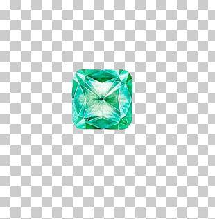 Emerald Green Diamond Gemstone Birthstone PNG