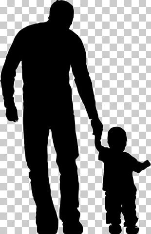 Father Silhouette Drawing Child PNG