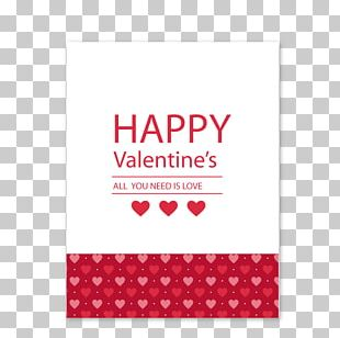 Valentines Day Greeting Card PNG