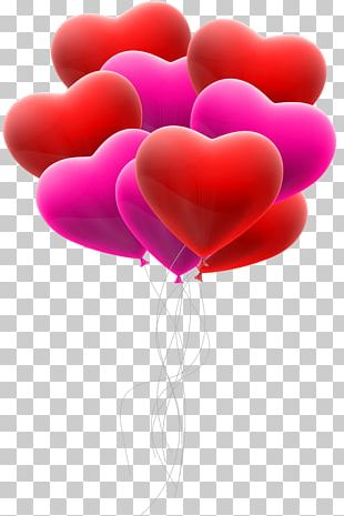 Love Heart Balloon Valentine's Day PNG